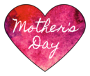Mother\'s Day Watercolor Hearts