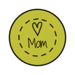Mother's Day Kisses Circle Labels