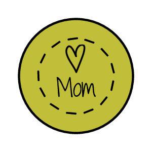 Mother's Day Kisses Circle Labels (Circle)