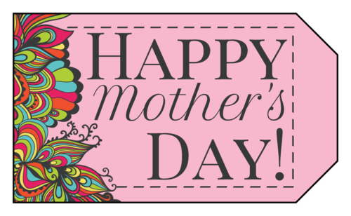 "OL1763 - 1.75"" x 3"" - ""Happy Mother's Day"" Gift Tags"