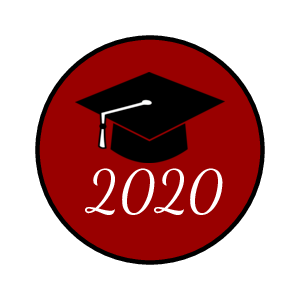 Colored sticker template with graduation cap and the year of graduation for chocolate kisses