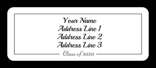 """OL875 - 2.625"""" x 1"""" - Graduation Address Labels"""