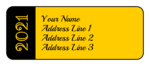 Customizable School Colors Graduation Address Labels