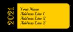 Customizable School Colors Graduation Address Labels