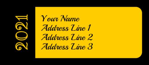 "OL875 - 2.625"" x 1"" - Customizable School Colors Graduation Address Labels"