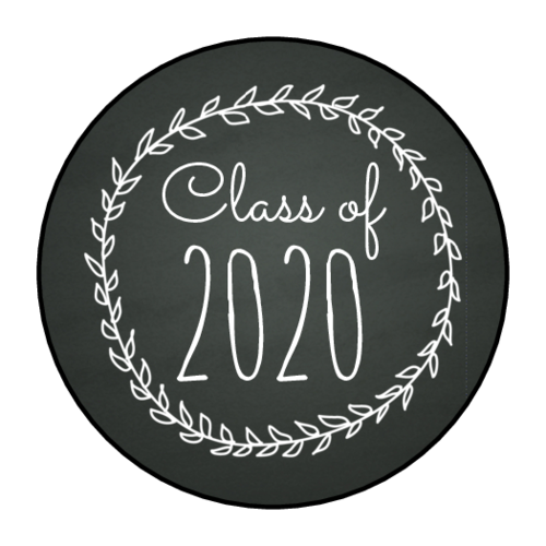"OL2088 - 1.5"" Circle - Chalkboard Graduation Envelope Seals"
