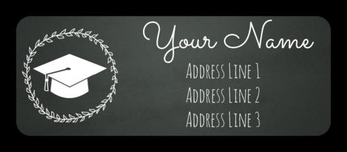 """OL875 - 2.625"""" x 1"""" - Chalkboard Graduation Address Labels"""