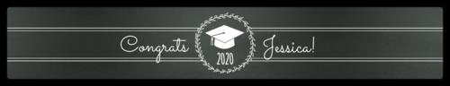 """OL435 - 8.1875"""" x 1.375"""" - Chalkboard Graduation Water Bottle Labels"""
