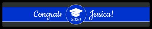 "OL435 - 8.1875"" x 1.375"" - School Colors Graduation Water Bottle Labels"