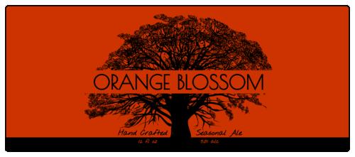 "OL2921 - 7.375"" x 3.125"" - Tree Silhouette Beer Bottle Label"