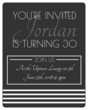 Simple Wine Label Birthday Invites