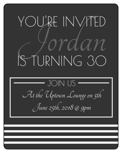 "OL162 - 3.75"" x 4.75"" - Simple Wine Label Birthday Invites"