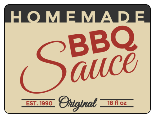 "OL500 - 4"" x 3"" - Homemade Barbecue Sauce"
