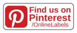 """Find us on Pinterest"" Business Labels"