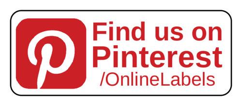 "OL875 - 2.625"" x 1"" - ""Find us on Pinterest"" Business Labels"