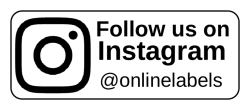 "OL875 - 2.625"" x 1"" - ""Follow us on Instagram"" Business Labels"