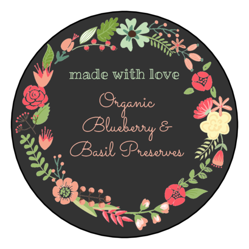 "OL350 - 2.5"" Circle - ""Made with Love"" Floral Wreath Circle Labels"