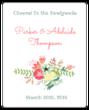 Floral Newlyweds Wine Bottle Label