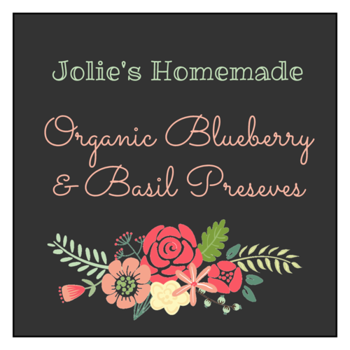 Floral Jar Labels pre-designed label template for OL805