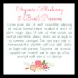 Floral Jar Labels - Backing