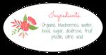 Floral Jar Label - Oval Backing