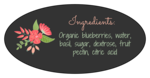 Floral Jar Label - Oval Backing