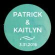 Blue Watercolor Circle Wedding Announcement Labels
