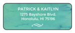 Blue Watercolor Address Labels