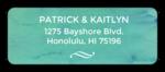 Blue Watercolor Address Labels
