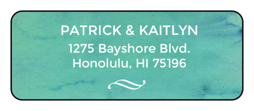"OL875 - 2.625"" x 1"" - Blue Watercolor Address Labels"