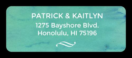"OL875 - 2.625"" x 1"" - Blue Watercolor Address Labels"