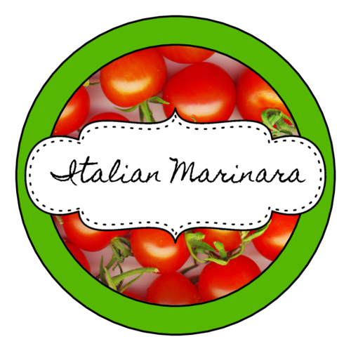 "OL350 - 2.5"" Circle - Marinara Sauce Jar Circle Labels"