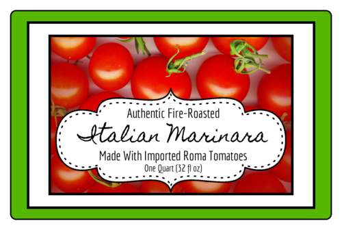 Marinara Sauce Jar Labels pre-designed label template for OL575