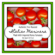Square Marinara Sauce Jar Label