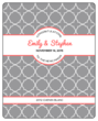 Quatrefoil Wedding Wine Label