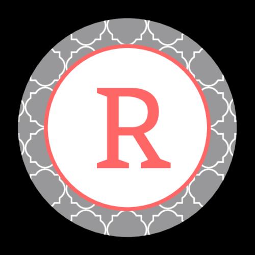 monogram quatrefoil templates label labels circle onlinelabels