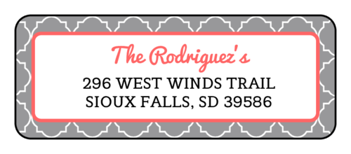 "OL1809 - 3.75"" x 1.4375"" - Quatrefoil Return Address Labels"