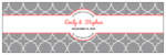 Quatrefoil Wedding Water Bottle Labels
