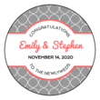 Quatrefoil Wedding Circle Labels