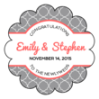 Quatrefoil Wedding Labels