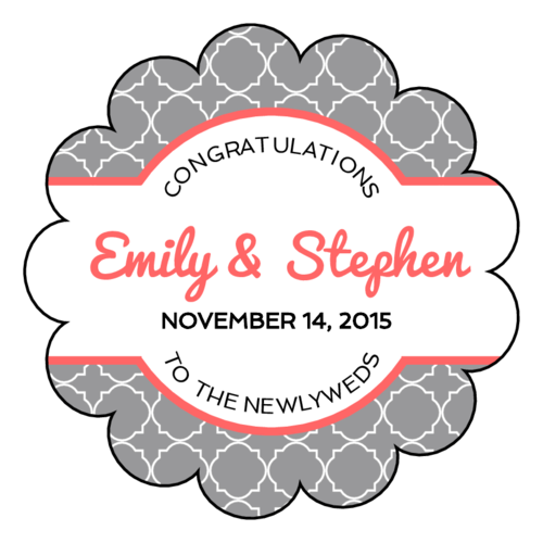 Quatrefoil Wedding Labels pre-designed label template for OL1027