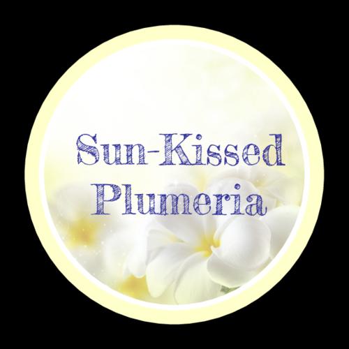 "OL325 - 1.67"" Circle - Plumeria Bath and Body Labels"
