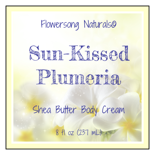"OL805 - 3"" x 3"" - Plumeria Bath and Body Labels"