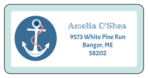 "OL125 - 4"" x 2"" - Nautical Address Labels"