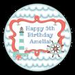 Nautical Birthday Circle Labels