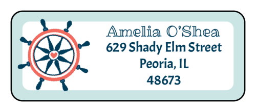 "OL875 - 2.625"" x 1"" - Nautical Return Address Labels"