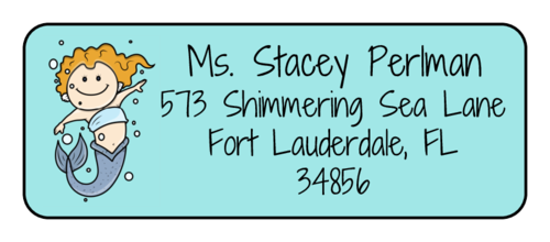 "OL875 - 2.625"" x 1"" - Mermaid Address Labels"