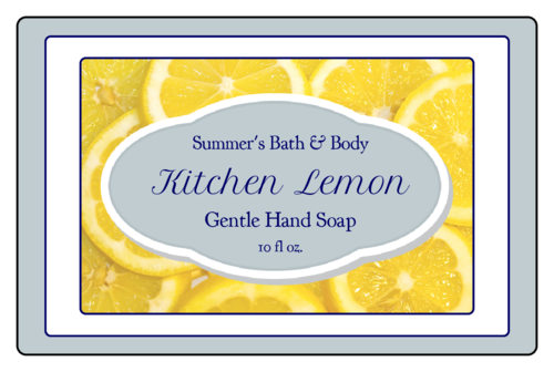 Lemon Bath and Body Labels pre-designed label template for OL575