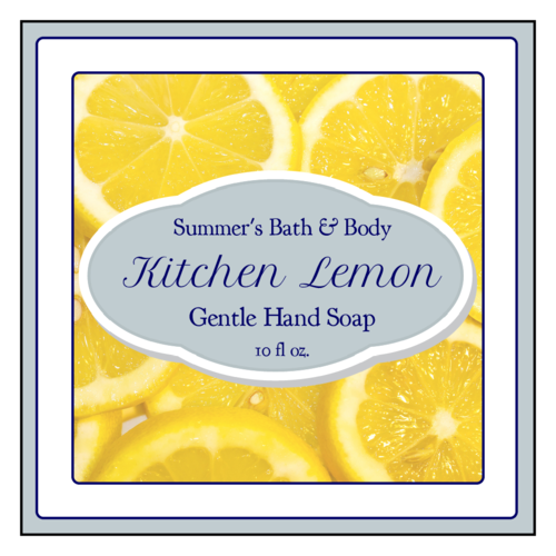 "OL805 - 3"" x 3"" Square - Lemon Bath and Body Square Labels"