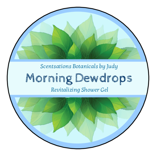Morning Dewdrops circular label templates.